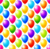 Seamless pattern of colorful balloons background. Seamless pattern of colorful balloons vector background Royalty Free Stock Photo