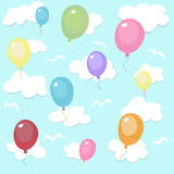 Seamless pattern with colorful balloons Stock Photo