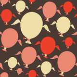 Seamless pattern with colorful balloons. Royalty Free Stock Photography