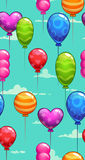 Seamless pattern with colorful balloons Royalty Free Stock Image