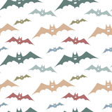 Seamless pattern with colorful bats. Bats for Halloween party. Vector bats for the web, for a card or for scrapbooking Stock Photos