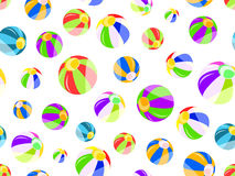 Seamless pattern with colorful beach balls royalty free illustration
