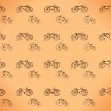 Seamless pattern colorful bicycles Stock Images