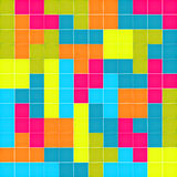 Seamless pattern with colorful blocks puzzle Stock Photo