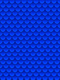 Seamless pattern of colorful blue fish scales. Fish scales, dragon skin, Japanese carp, dinosaur skin, pimples, reptile. Snake skin, shingles. Vector Royalty Free Stock Photography