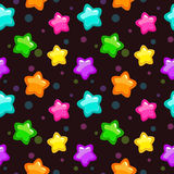 Seamless pattern with colorful bright stars Stock Images