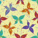 Seamless pattern, colorful butterflies Stock Photography