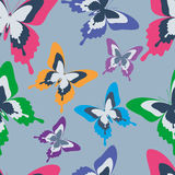 Seamless pattern with colorful butterflies Royalty Free Stock Photo