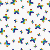Seamless pattern with colorful  butterflies. Royalty Free Stock Image