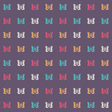 Seamless pattern with colorful butterflies on a dark background Royalty Free Stock Photos