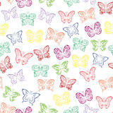 Seamless pattern with colorful butterflies Royalty Free Stock Images