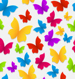 Seamless pattern with colorful butterflies, repeating backdrop Stock Photography