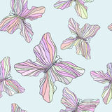 Seamless pattern with colorful butterflies Stock Photo
