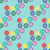 Seamless pattern with colorful buttons Stock Photos
