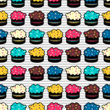 Seamless pattern with cakes. Seamless pattern with colorful cakes vector illustration