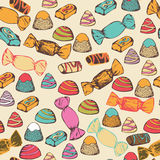 Seamless pattern with colorful candies. Royalty Free Stock Photography