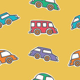 Seamless pattern of colorful cars Royalty Free Stock Photos