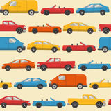 Seamless pattern with colorful cars Stock Photography