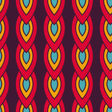 Seamless pattern with colorful chain royalty free stock photography