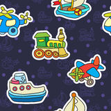 Seamless pattern with colorful childrens toys. Stock Photos