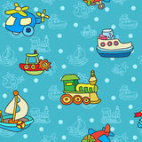 Seamless pattern with colorful childrens toys Royalty Free Stock Photos