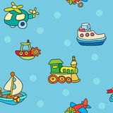 Seamless pattern with colorful childrens toys Royalty Free Stock Images