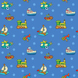Seamless pattern with colorful childrens toys Stock Photos