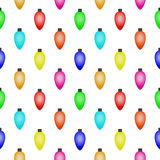 Seamless pattern with Colorful Christmas Lights Royalty Free Stock Photo