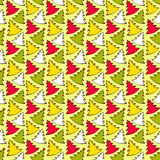 Seamless pattern with colorful Christmas trees. Vector illustration, template for decoration and design Stock Photography