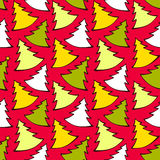 Seamless pattern with colorful Christmas trees Stock Photography