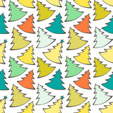 Seamless pattern with colorful Christmas trees Royalty Free Stock Photography
