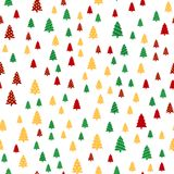 Seamless pattern with colorful Christmas trees. Vector.  Royalty Free Stock Photo