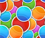 Seamless pattern with colorful circles Royalty Free Stock Photo