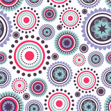 Seamless pattern with colorful circles Stock Photos