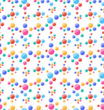 Seamless Pattern with Colorful Circles, Party Background. Illustration Seamless Pattern with Colorful Circles, Party Background - Vector Royalty Free Stock Photo