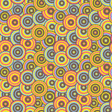 Seamless pattern with colorful circles in retro style. Stock Photography