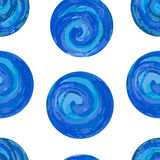 Seamless pattern with colorful circles on a white background. EPS,JPG. Eamless pattern with colorful circles on a white background. Blue spirals with colored Stock Images