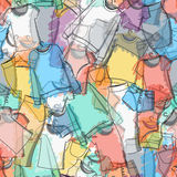 Seamless pattern of colorful clothes for stylish design Stock Photography