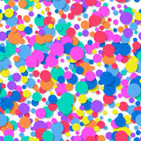 Seamless pattern of colorful confetti. Festive background. Royalty Free Stock Photography