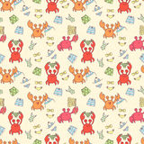 Seamless pattern with colorful crabs Royalty Free Stock Images