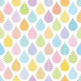 Seamless pattern with colorful decorative raindrops. Stock Images