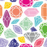 Seamless pattern with colorful diamons. Seamless pattern with colorful diamonds on a white background Stock Image