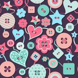 Seamless pattern of colorful differently shaped Stock Image