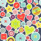 Seamless pattern of colorful differently shaped Stock Photos