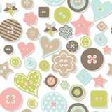 Seamless pattern of colorful differently shaped Royalty Free Stock Image