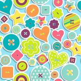 Seamless pattern of colorful differently shaped Royalty Free Stock Photography