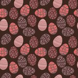 Seamless pattern with colorful Easter eggs.Seamless pattern can Stock Image