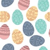 Seamless pattern with colorful Easter eggs.Seamless pattern can Royalty Free Stock Photography