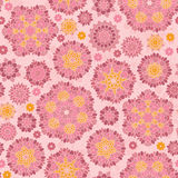 Seamless pattern of colorful fantasy flowers Royalty Free Stock Images