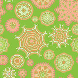 Seamless pattern of colorful fantasy flowers Stock Photos